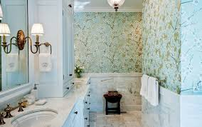 bathroom with wallpaper ideas beautiful bathroom wallpaper for bathroom decorating ideas on a