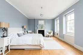 chambre gris bleu déco intérieur blanc et bleu combinaison classique intérieur