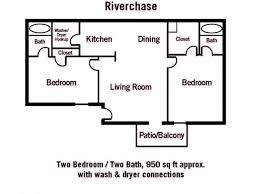 Two Bed Two Bath Floor Plans 2 Bed 2 Bath Apartment In Tulsa Ok Riverchase Apartments