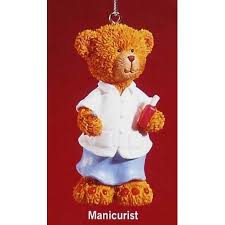 russ 3 beary ornament manicurist walmart