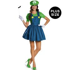 Halloween Costumes Female Size Buy Super Mario Womens Size Luigi Costume Skirt