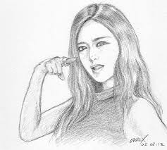 qri of t ara cry cry pencil sketch portrait by wrexjapan on