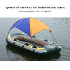 Awning Sun 3 Person Inflatables Boat Sun Shelter Sailboat Awning Sun Shade