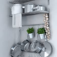 stainless steel kitchen cabinets ikea ikea grundtal stainless steel wall shelf rail and 15 large hooks set kitchen storage and organizer set