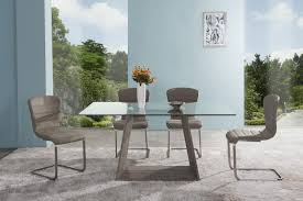 armen living bravo contemporary dining table in dark sonoma base