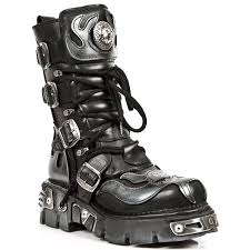 motorcycle shoes amazon com new rock boots unisex style 107 s2 silver