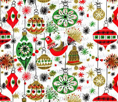 vintage christmas paper funky mid century christmas ornaments background digital image