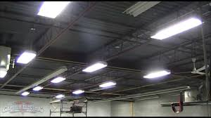 6 bulb fluorescent shop lights t5 warehouse lighting upgrade youtube