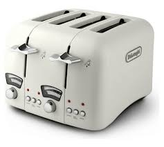 Delonghi Icona 4 Slice Toaster Black Buy De U0027longhi Argento 4 Slice Toaster Cream At Argos Co Uk