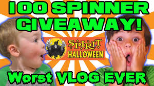 spirit halloween headquarters 100 fidget spinner giveaway spirit halloween hq worst vlog