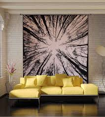 hanging white and black tree of life tapestry wall hanging white and black tree of life tapestry