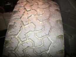 toyota tire wear tire wear on inside front passenger bfg toyota 4runner forum
