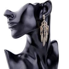Chandelier Earrings Unique Chandelier Earrings Hanging Rhinestone Leaves Chandelier Earrings Unique Long Earrings