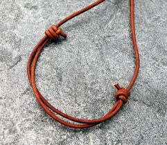 leather cord necklace mens images Mens round lapis lazuli donut pendant on leather cord spiral jpg
