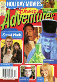 image disney adventures magazine cover december january 2004