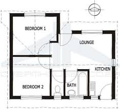2 Bed Bungalow Floor Plans South African House Plans Google Search Architecture