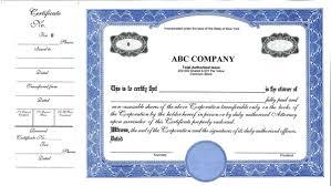 stock certificate template 30 free certificate of appreciation