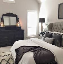 Bedroom Decorating Ideas With Black Furniture Master Bed Tufted Grey Headboard For Our Home Pinterest Gray