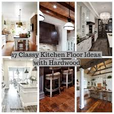 17 classy kitchen floor ideas with hardwood homadein