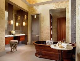 bathroom furniture dark wood bronze freestanding metal traditional