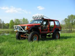 jeep xj lifted the shop rigs of rusty u0027s off road products