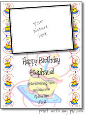 printable birthday picture frames free birthday card templates to