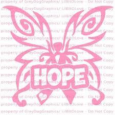 butterfly awareness ribbon vinyl decal cancer sticker car