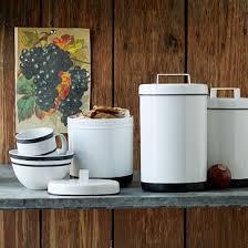 enamel kitchen canisters organic cotton frayed edge sheet set white white enamel