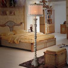 rustic floor lamps with 65 3 h shabby chic fabric shade