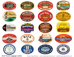 travel stickers images Travel luggage stickers vintage travel images instant jpg