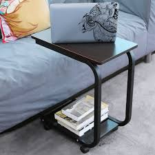 Laptop Desk Wheels by U Shaped Side Table Computer Tray Sofa Couch End Table Rolling