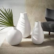 White Tall Vases Oversized Pure White Ceramic Vases West Elm