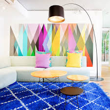 Bright Colored Rugs Geometric Design Inspiration Family Room Contemporary With Bright