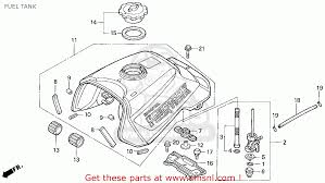 honda trx300 fourtrax 300 1995 s usa fuel tank schematic