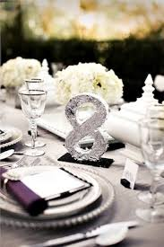 silver wedding table numbers almost every loves the bling this is a handmade number you