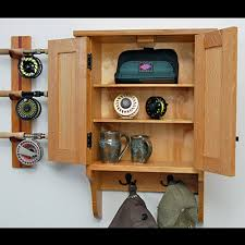 Fishing Rod Storage Cabinet Custom Fly Fishing Cabinets From New Hhire Solid Cherry Wood