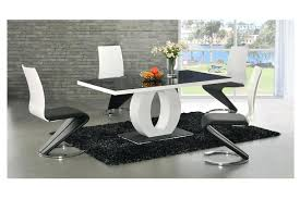 Black Glass Dining Room Sets Dining Table Modern Glass Dining Table Chairs And 6 Top