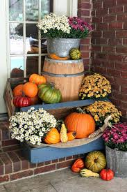 fall decorating ideas for outside creative thanksgiving outdoor