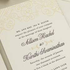 Black Wedding Invitations Posh Foil Gold And Black Wedding Invitations Banter And Charm