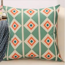 Sofa Pillow Cases Boho Geometric Cotton Linen Cushion Cover Throw Pillow Case Sofa
