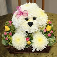 dog flower arrangement puppy of in torrance ca andes florist