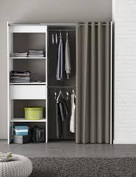 Schlafzimmer Schrank Amazon Kleiderschrank Mit Vorhang Weiß B 169 Cm Schrank Wäscheschrank