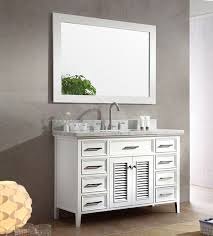 ariel kensington single 49 inch transitional bathroom vanity set