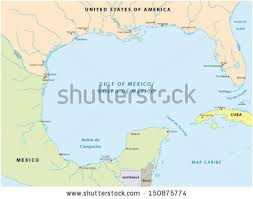 map of the gulf of mexico gulf mexico map stock vector 150875774