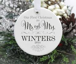 wedding ornament our as mr and mrs