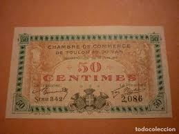 chambre de commerce du var francia 50 centimes de la chambre de commerce comprar billetes