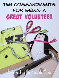 Christmas Gifts For Volunteers Ten Commandments For Being A Great Volunteer Sisterhood Of The