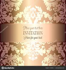 Wallpaper Invitation Card Baroque Background With Antique Luxury Beige Brown And Gold