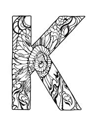 free printable zentangle coloring pages letter k zentangle coloring page free printable coloring pages