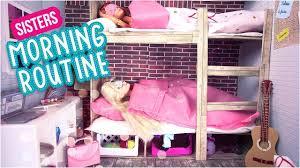 Barbie Bunk Beds Barbie Morning Routine Des Soeurs Lits Superposés L Doll Sisters